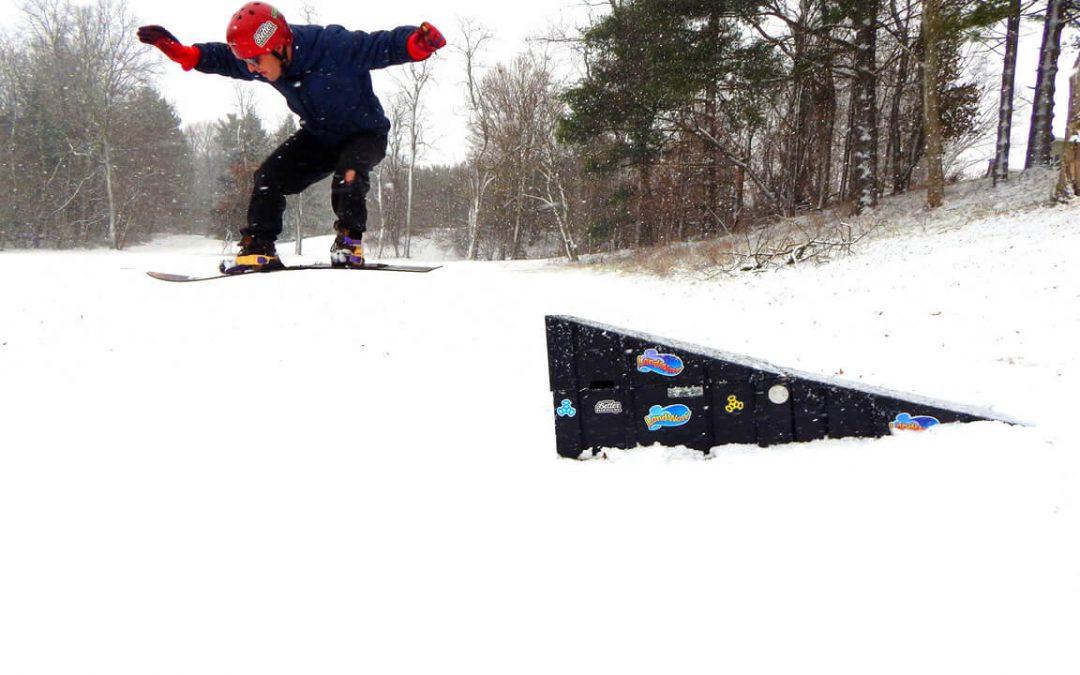 Snowboarding on LandWave Ramps